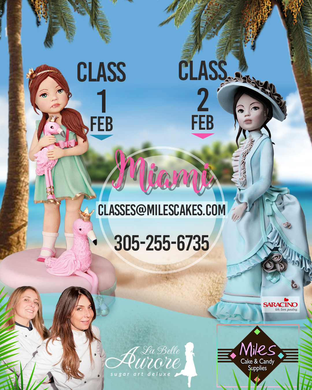 Miles cakes and candy supplies MasterClass Miami Modeling sugar doll La Belle Aurore