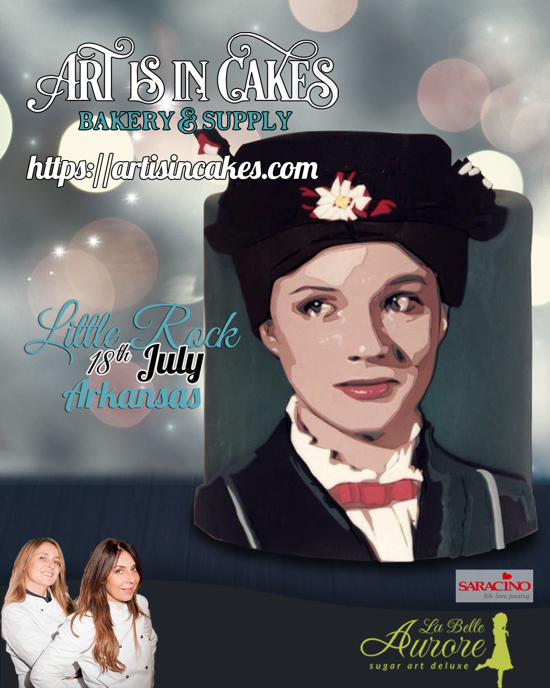 Mary Poppins master class Art Is In Cakes - multilayer tecnique -cake design roma La Belle Aurore