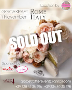 Korean Flowercake workshop con G.G.Cakraft Rome Italy November