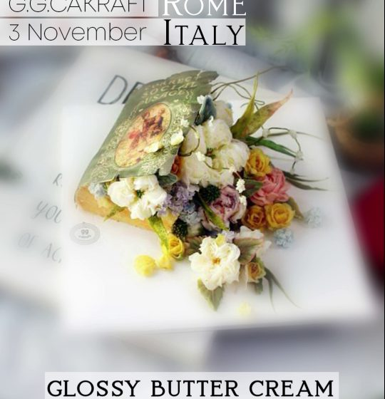 Book and Flowers Glossy Butter Cream Tecnique Korean Flowercake workshop con G G Cakraft