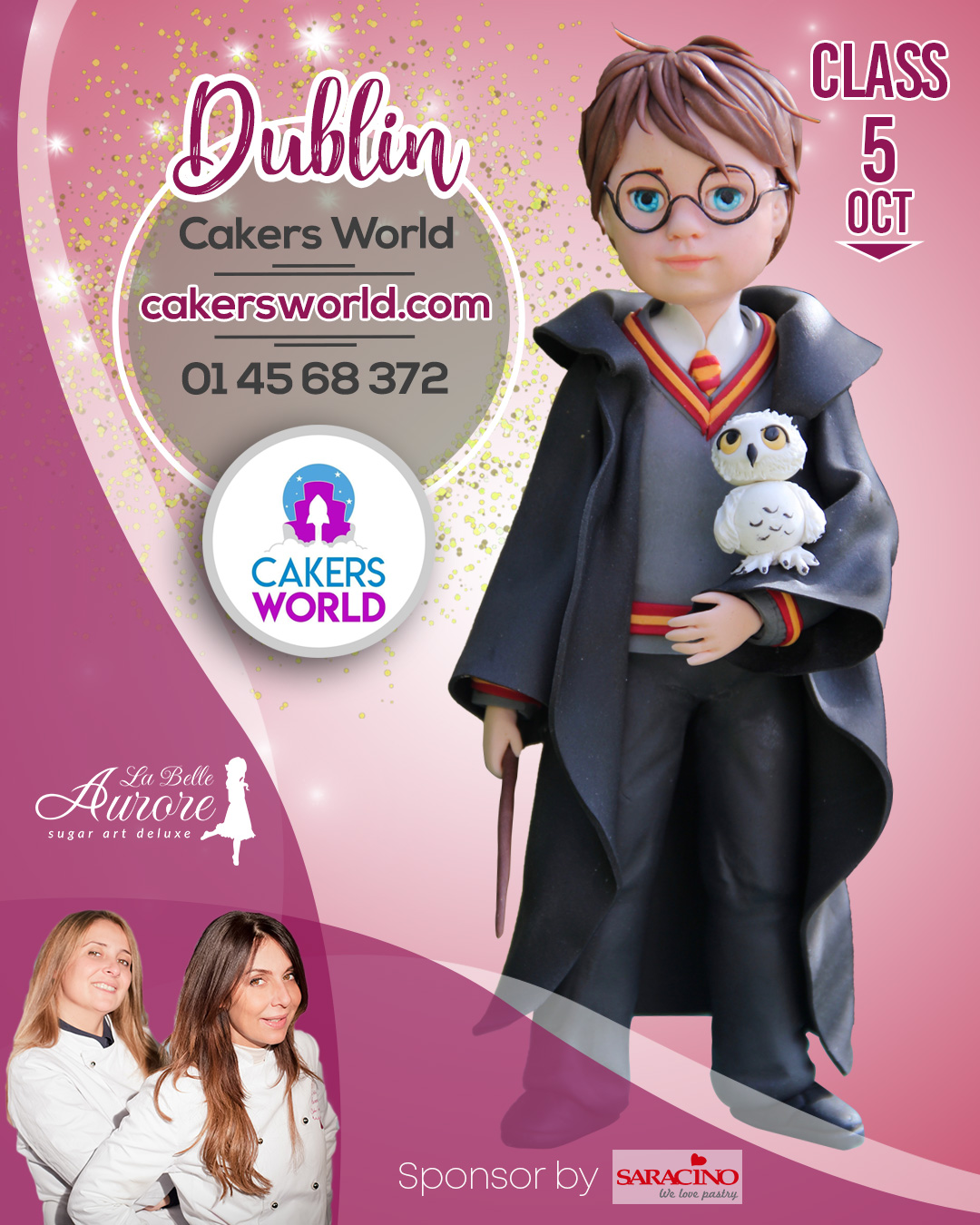 Harry Porter master class dublin- cakers world - cake designer roma Modeling sugar doll La Belle Aurore