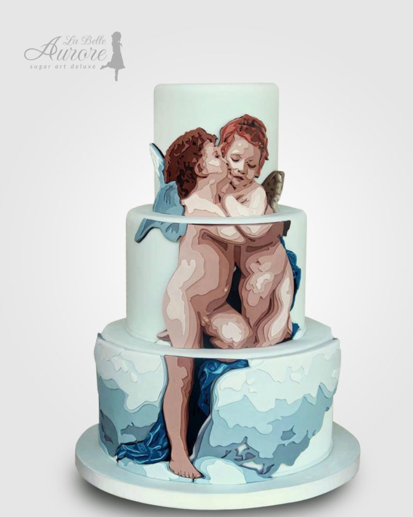 angeli michelangelo - multilayer tecniques -cake design roma La Belle Aurore