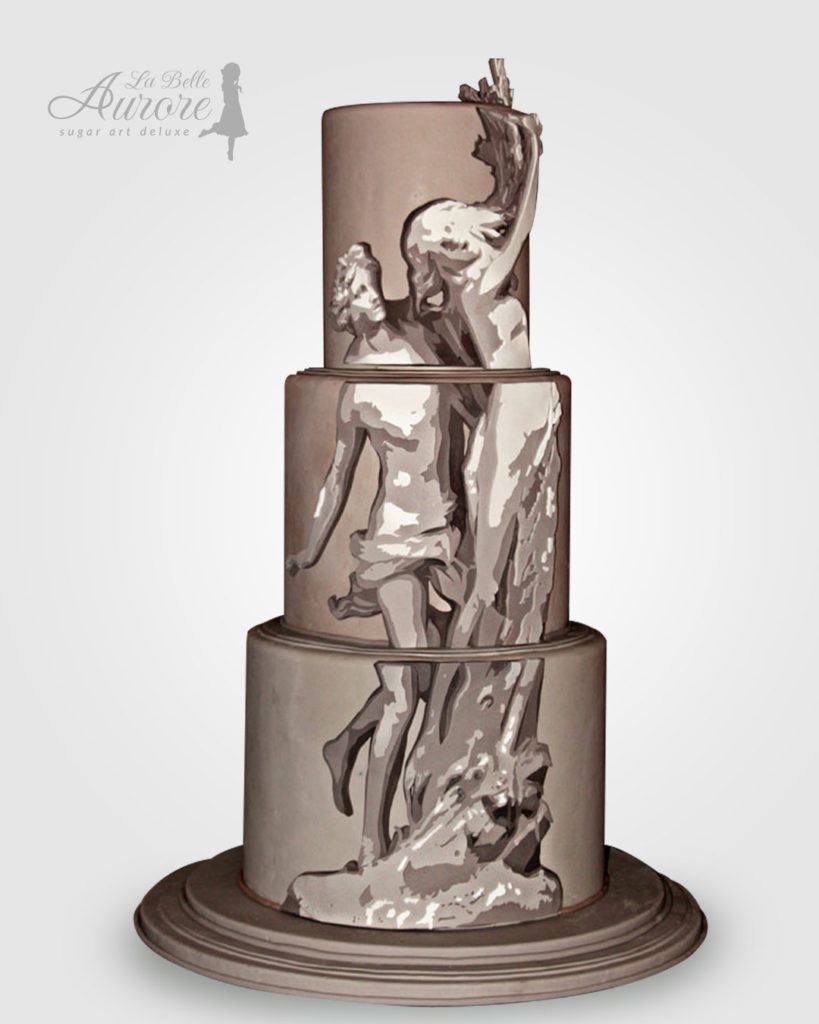 apollo-dafne - multilayer tecniques -cake design roma La Belle Aurore