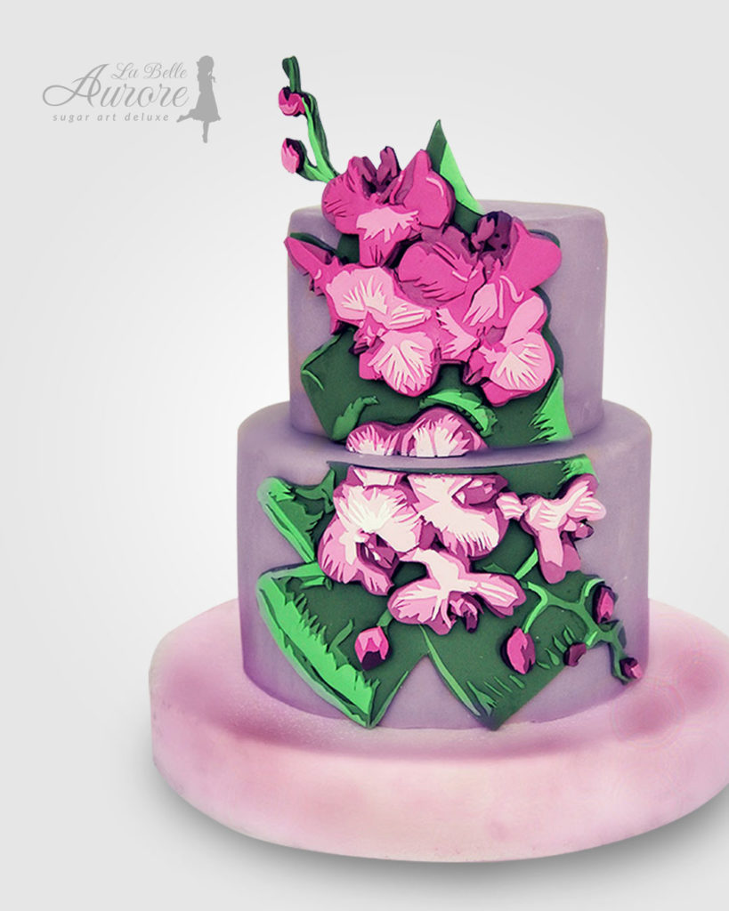 orchidea - multilayer tecniques -cake design roma La Belle Aurore