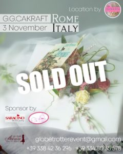 G.G.CAKRAFT Master Class Roma flower cake design event by La Belle Aurore