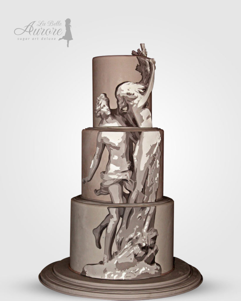 Apollo e Dafne cake decorating - cake deluxe creative lab roma La Belle Aurore