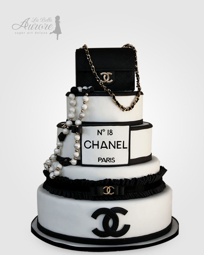 Chanel Paris N 18 cake decorating - cake deluxe creative lab roma La Belle Aurore