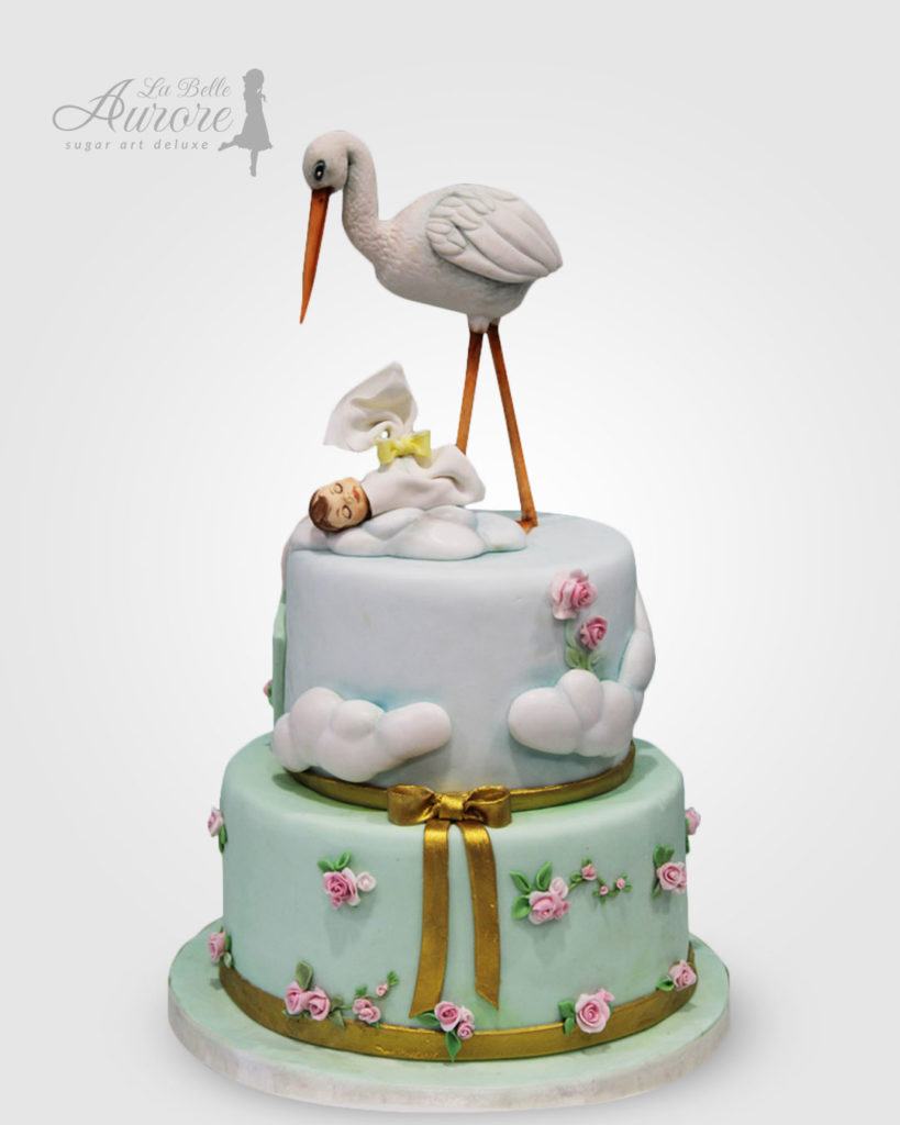 Baby Shower cake decorating - cake deluxe creative lab roma La Belle Aurore
