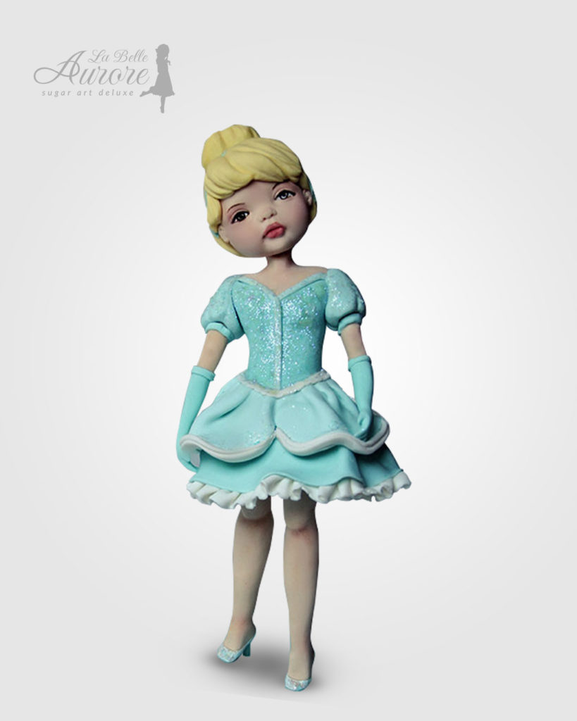 Cenerella Dolly modellig techniques - cake design roma La Belle Aurore