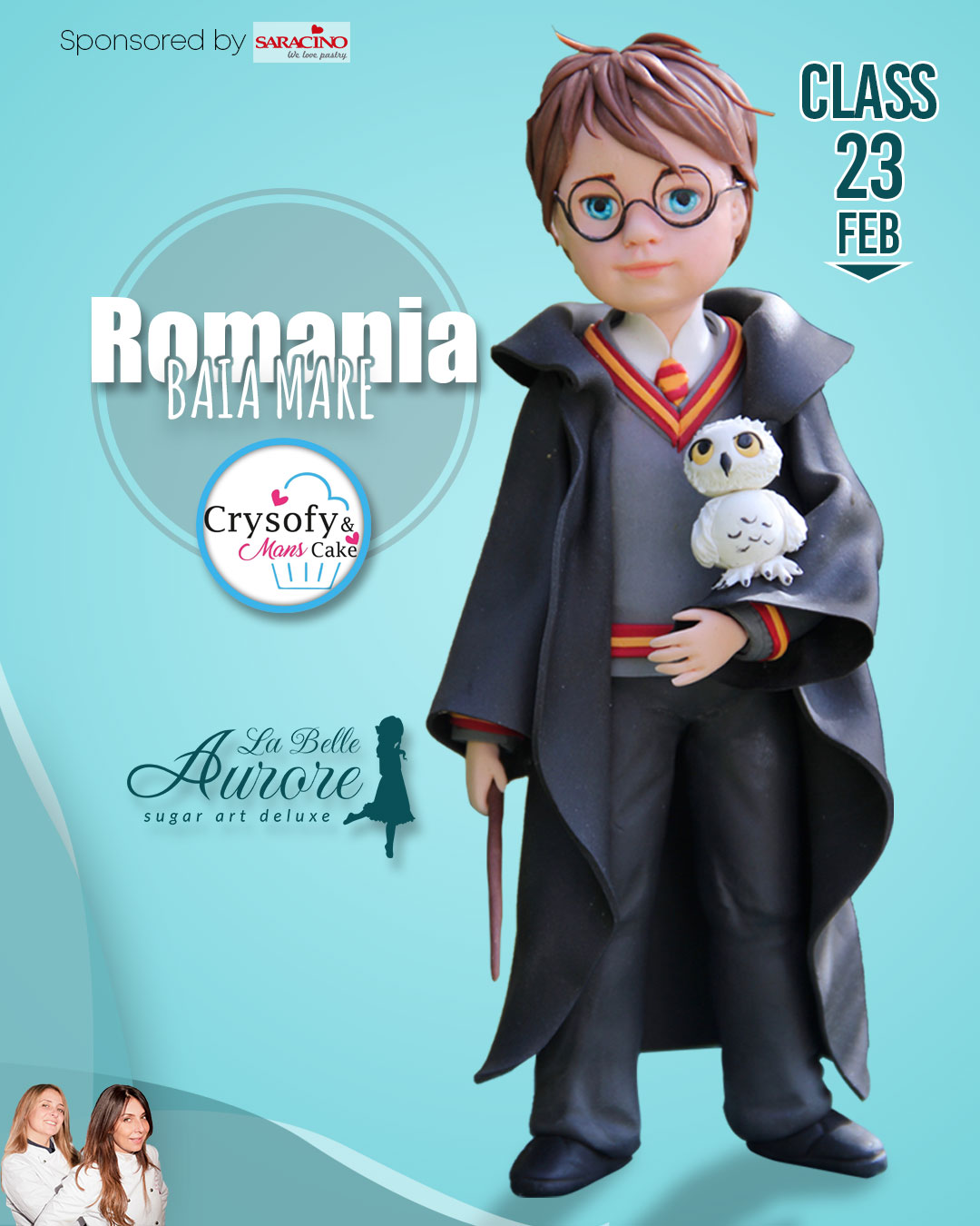Harry Potter master class romania - Event Hosted by crysofy mans cakes - Standing Figure Modeling by La Belle Aurore