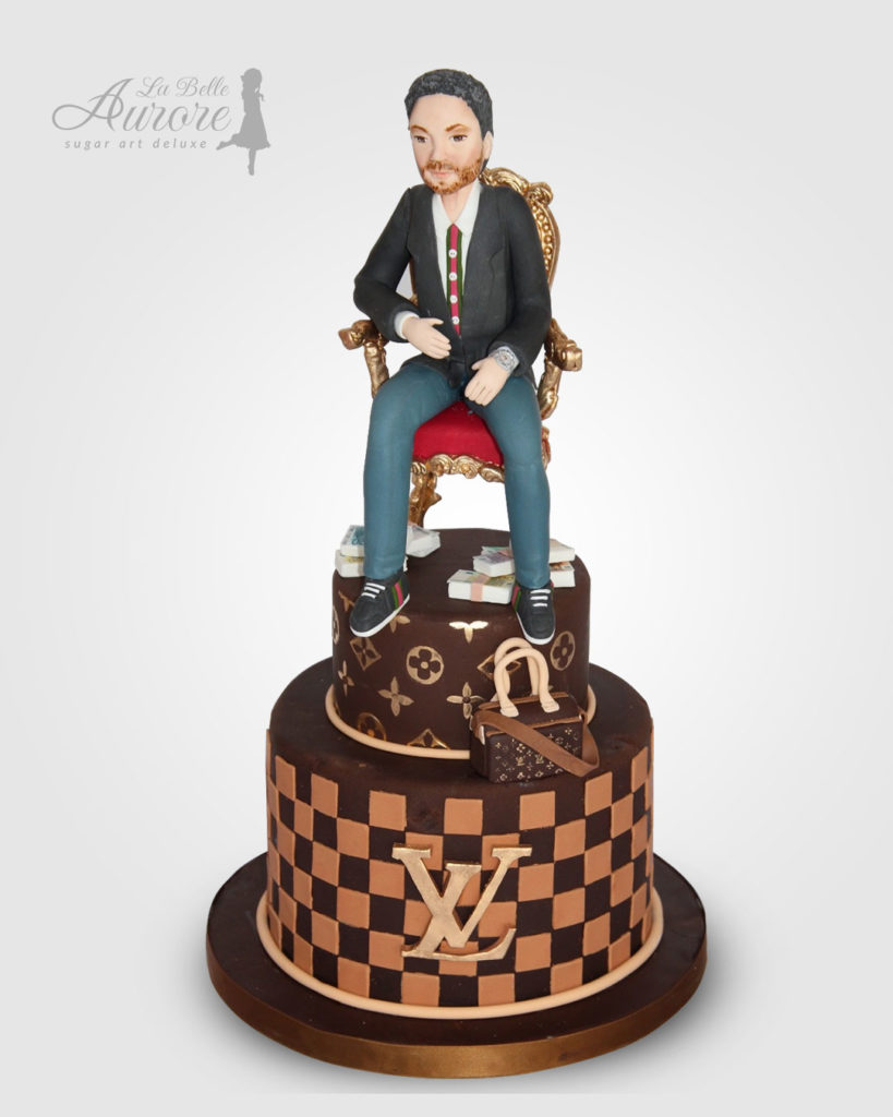 Louis Vuitton cake decorating - Cake design creative lab roma La Belle Aurore