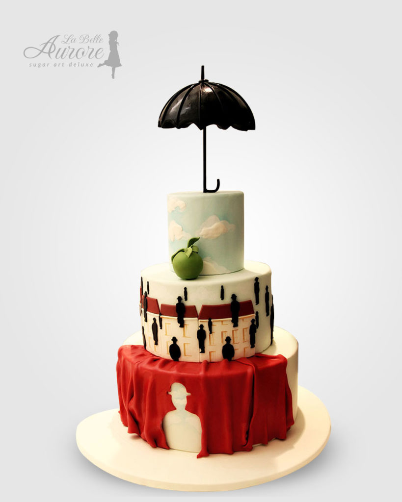 Magritte cake decorating - Cake design creative lab roma La Belle Aurore