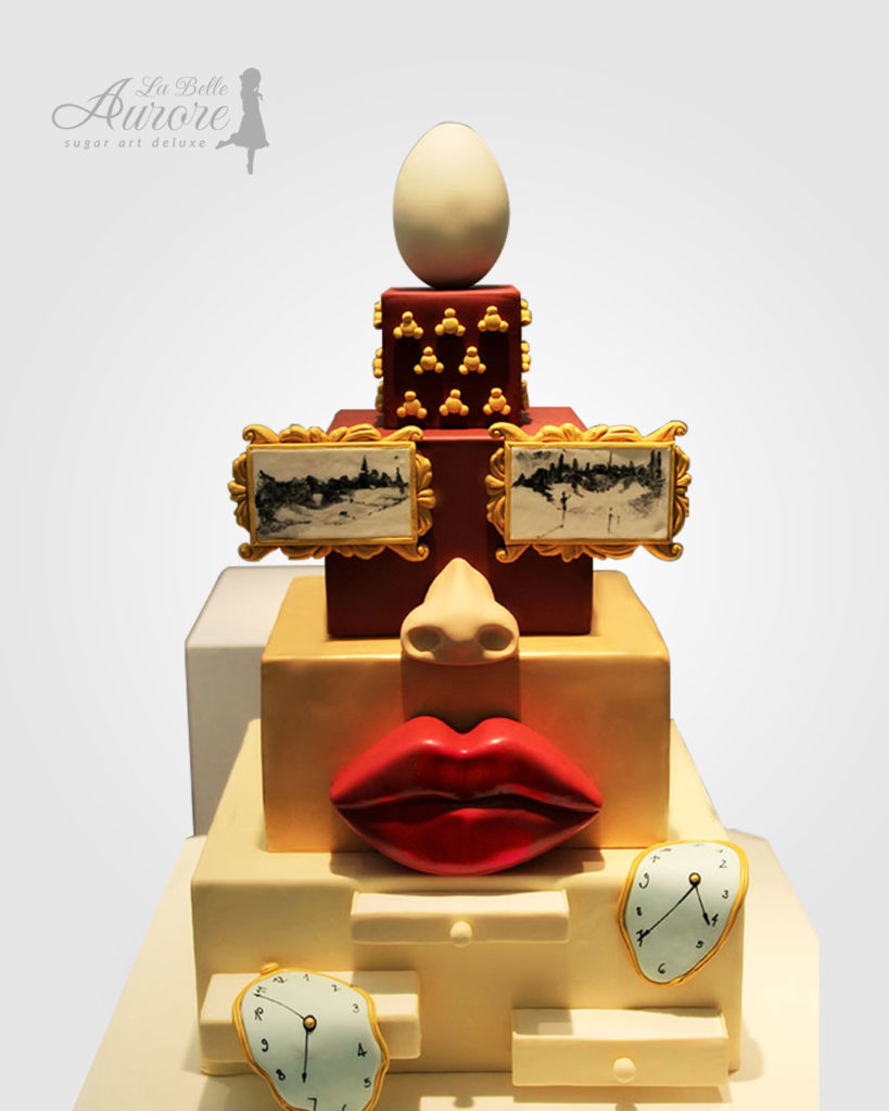 Salvador Dali cake decorating - Cake design creative lab roma La Belle Aurore