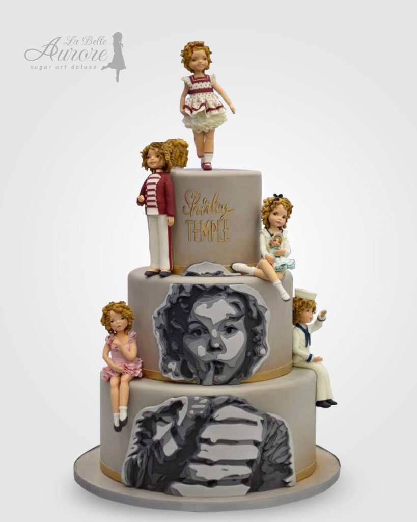 Shirley Temple cake decorating - Cake design creative lab roma La Belle Aurore